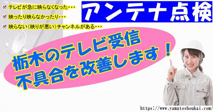 アンテナ修理栃木