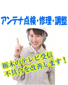 急にテレビが映らなくてお困りですか?|アンテナ点検・修理・調整|栃木