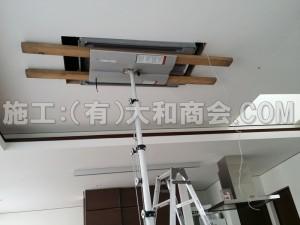 天井埋込形2方向エアコン施工風景