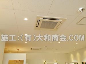 天井埋込形エアコン施工例