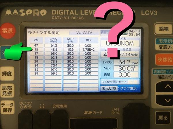 テレビ受信不具合点検・修理例 電波の品質・C/N、MER改善!?
